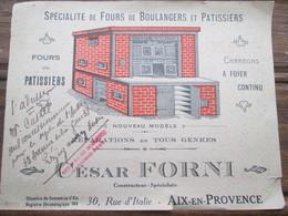Publicitee Pour Les Fours Cesar Forni . Aix En Provence  . Format Carte Postale - Publicités
