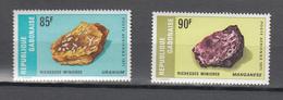 Gabon 1971,2V In Set, Uraniumerts,Mangaanerts,MNH/Postfris(A3571) - Mineralen