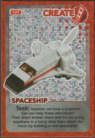 Lego Trading Card - Create The World - 127 Spaceship - Trading Cards