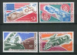 9905  CONGO PA174/5,177/8 **Coopération Internationale Dans L'espace , Conquéte Spatiale    1973  TTB - Nuovi