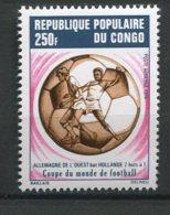 9912  CONGO PA 192 ** 250F L'Allemagne Occidentale Vainqueur De La Coupe Du Monde De Football  1974   TTB - Congo - Brazzaville