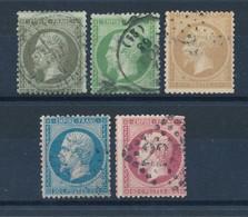 FRANCE - N°YT 19/22 OBLITERES NAPOLEON III - COTE YT : 132€ - 1862 - 1862 Napoléon III