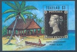 TOKELAU - MNH/** - 1990  - 150th ANNIVERSARY OF THE FIRST STAMP - Yv BLOC 1 -  Lot 18385 - Tokelau