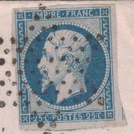 1854 - VARIÉTÉ (ANGLE AVEC MANQUE D'IMPRESSION) Su NAPOLEON N° 15 TB Sur ENVELOPPE CAD PARIS ETOILE Pour BRAY SEINE - 1853-1860 Napoleon III
