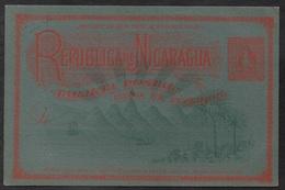NICARAGUA / ENTIER POSTAL 2 C. VERMILLON SUR BLEU (ref 7909) - Nicaragua