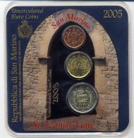 Saint Marin Contenant Les 3 Pieces Rares De 2ct, 20 Cts Et La Piece Rare De 2 Euro De San Marino Pieces Neuves Blister - Saint-Marin
