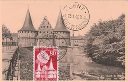 BELGIQUE CARTE MAXIMUM FLORALIES GANTOISES  N° 961  OBLITERE - Maximumkarten (MC)