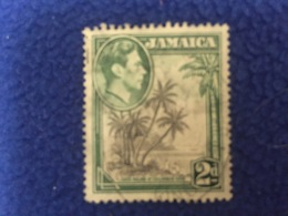 Stamp: Jamaica:1938 ,  King George VI,Coco Palms At Columbus Cove,  Canceled LH - Stamps