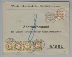 Heimat CH ZH Rorbas-Freienstein 1902-09-16 Taxierte Drucksache 8 Rp. - 1882-1906 Armarios, Helvetia De Pie & UPU