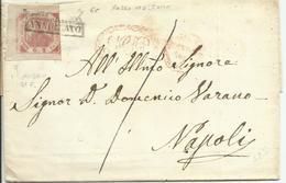 AS167-Lettera Con 2 Gr. II Tav. Rosso Mattone 6c Angolo Di Foglio 27/10 - Naples