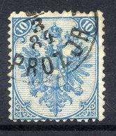 BOSNIA & HERZEGOVINA 1879 Arms 10 H. Pale Blue Perforated 12½:13 Used.  Michel 5 I, SG 51 - Bosnia And Herzegovina