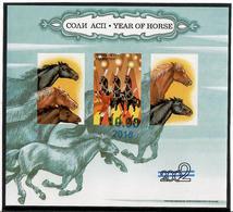 Tajikistan .2018 Year Of Horse 2002. Imperf S/S Ovpt 10.00   Michel # BL 77 (792) - Tadjikistan