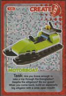 Lego Trading Card - Create The World - 135 Motorboat - Trading Cards