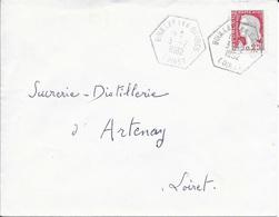 LOIRET 45 -  CACHET AGENCE POSTALE TYPE 8 -  BOULLAY LES BARRES  - 1962 - Marcophilie (Lettres)
