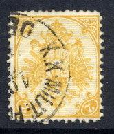 BOSNIA & HERZEGOVINA 1879 Arms 2 H. Perforated 13:12  Used.  Michel 2 I, SG 46 - Bosnia And Herzegovina