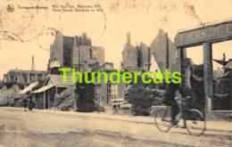 CPA DENDERMONDE TERMONDE RUINES RUE DE L'EAU BARAQUES 1916 - Dendermonde