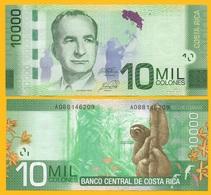 Costa Rica 10000 (10,000) Colones P-277 2014 (Serie A) UNC - Costa Rica