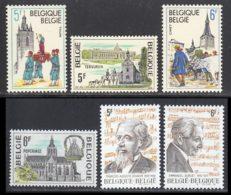 Belgique 1979 Yvert 1952 / 1957 ** TB - Belgique