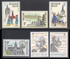 Belgique 1979 Yvert 1952 / 1957 ** TB - Bélgica