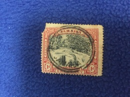 Stamp: Jamaica:1900,  Falls,  Canceled LH - America (Other)