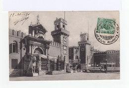 Sur Carte Postale Timbre Victor Emmanuel II Oblitéré Cachet Venezia Centro 1911. CAD Fontenay. (924) - Marcophilie - EMA (Empreintes Machines)