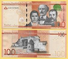 Dominican Republic 100 Pesos Dominicanos P-190a 2014 UNC - Dominicaine