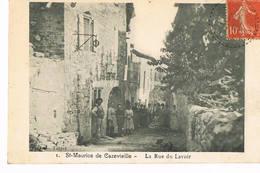Saint Maurice De Cazevieille, Gard, La Rue Du Lavoir Belle Animation - France