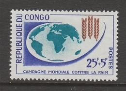 TIMBRE NEUF DU CONGO - CAMPAGNE MONDIALE CONTRE LA FAIM N° Y&T 153 - Contro La Fame