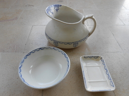 Toilette- Ensemble Broc/pichet, Porte- Savon, Bol à Raser- - Terre De Fer (FRA)