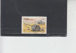CUBA  1966 - Yvert 876° - Anniversario Rivoluzione -cannone - Militaria