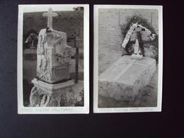 COLONIE ITALIANE AFRICA ORIENTALE TRIPOLI 1911 1912 GUERRA ITALO TURCA DUE FOTO CON CIPPI FUNEBRI ONORANZE AI CADUTI - Guerre, Militaire