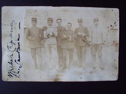 VECCHIA FOTO FOTOGRAFIA  CON MILITARI ITALIANI - Guerre, Militaire