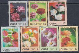 Cuba N° 2833 / 39 XX  Journée Des Mères : Fleurs Diverses, Les 7 Valeurs, Sans Charnière, TB - Cuba