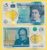 Great Britain England 5 Pounds P-394 2015(2016) UNC - Grande-Bretagne