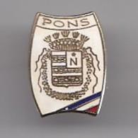 Pin's Pons  En Charente Maritime Dpt 17 Blason Réf 1866 - Städte