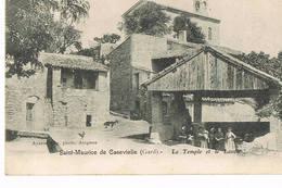 Saint Maurice De Cazevieille, Gard,le Temple Et Le Lavoir - France