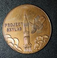 Jeton Médaille Prodject Skylab I / 25 Mai 1973 / Fusée - NASA / Conrad - Kervin - Weitz - Professionnels/De Société
