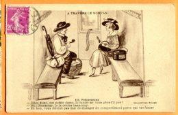 L012, Parapluie, Pipe, Chapeau, Boîte Modes Paris, A Travers Le Morvan, 116, Prévenances, Coll. Roubé, Circulée - Humour