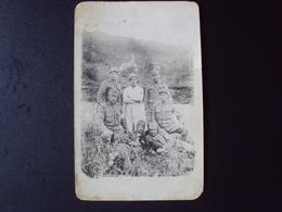 FOTO CARTOLINA CON MILITARI AUSTRIACI PRIMA GUERRA - Guerra, Militari