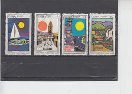 CUBA  1970 - Yvert 1368/71 - Turismo - Cuba