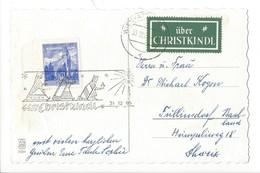 20936 - Christkindl 31.12.1965 Cloche Sur Branche +vignette Über Christkindl - Natale