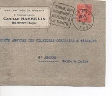 BERNAY DAGIN  BERNAY SES PROMENADES  SES PECHES A TRUITE  1932 - Sellados Mecánicos (Publicitario)