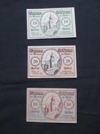 VP LOT 3 BON DE NéCESSITé / NOTGELD (V07) AUTRICHE ( 2 Vues) St Leonhard 10, 20 Et 50 Heller - Monetary /of Necessity