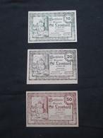 VP LOT 3 BON DE NéCESSITé / NOTGELD (V07) AUTRICHE ( 2 Vues) St Leonhard 10, 20 Et 50 Heller A - Monétaires / De Nécessité