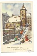 20941 - Christkindl 14.12.1961  Anges Et Eglise Sous La Neige - Noël