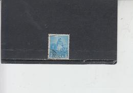 INDIA 1955 - Yvert  58° -  Serie Corrente - 1950-59 Repubblica