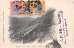 Brésil - Oblitérations / 192 - Estrada De Ferro Entre S. Paulo E Santos - Brésil