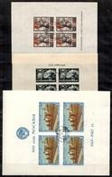 Russie Blocs-feuillets YT N° 4, N° 8 Et N° 10 Oblitérés. B/TB. A Saisir! - 1923-1991 USSR