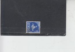 INDIA 1957-58 - Yvert 80° -  Serie Corrente - 1950-59 Repubblica