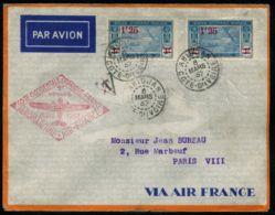 """Lot N°7365d - Cote D'Ivoire - 1er Vol """"COTE OCCIDENTALE D'AFRIQUE/FRANCE"""" - Cachets Spéciaux 6 MARS 37 - TB - Côte-d'Ivoire (1892-1944)"""